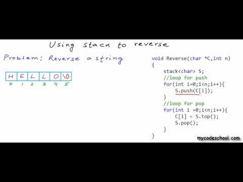 Reverse a string or linked list using stack.