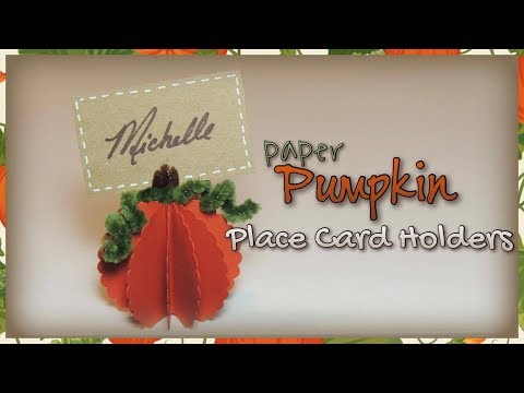 Paper Pumpkin Place Card Holders