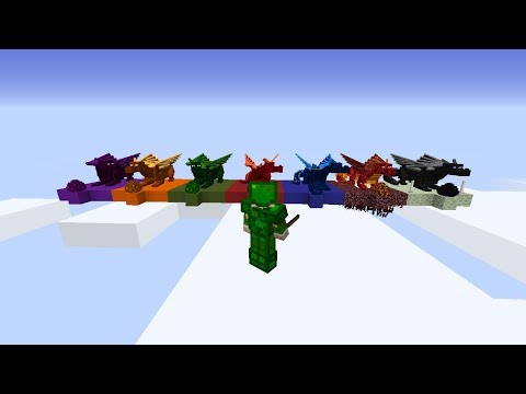 ✔ DRAGONS IN MINECRAFT (1.10.2 - 1.12) - RIDE DRAGONS DRAGON ARMOR & more! Mod Showcase