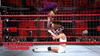 Sasha Banks brutalizes both members of Absolution: WWE Elimination Chamber 2018