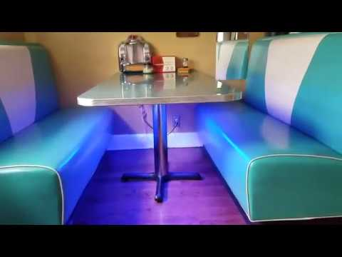 LED light strip used with Alexa (Echo Dot) on 1950's Diner Booth Review
