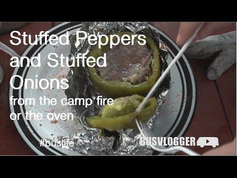 Stuffed Peppers and Stuffed Onions