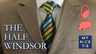 How To Tie A Tie The Half Windsor Slowmirroredbeginner How To Tie A H