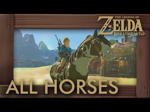 Zelda Breath of the Wild - All Horses