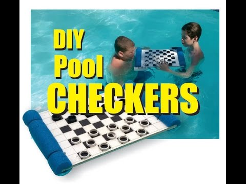 Checkers DIY Waterproof Floating Pool Checkers board