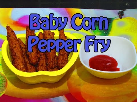 Baby Corn Pepper Fry - Diet Kitchens