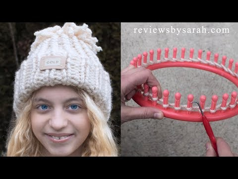 Loom Knitting For Beginners - How to Loom Knit Easy Snow Games Hat - with Naztazia