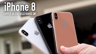 Copper Blush Gold iPhone 8 Model Hands On (ALL COLORS)