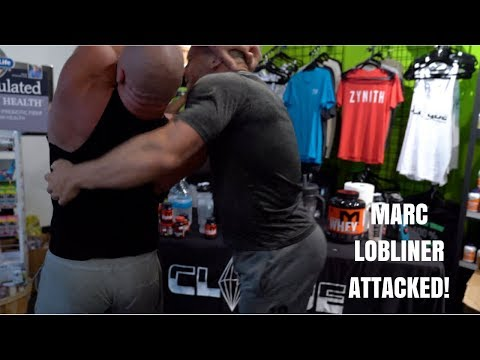 Huck Finn Knocks Out Marc Lobliner at Store Event!