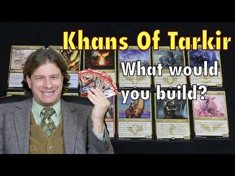 MTG - Khans of Tarkir PART 1: Let's build a sealed Magic: The Gathering deck together!