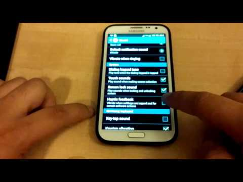 Disable Haptic Touch Vibration on Galaxy Note 2 (4.3).  Setup Phone