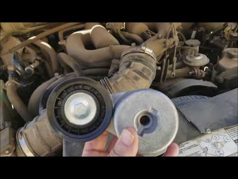 How To Replace A Belt Tensioner Pulley On A 1999 Ford Explorer