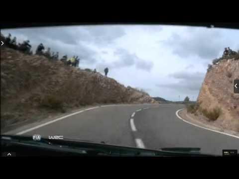 Onboard Kubica rally Catalunya-costa Daurada ss14 2015