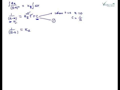 Second Order Reaction, Chemical Kinetics Second Order Reaction