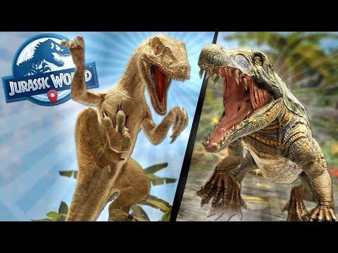 DINOSAUR BATTLES in FALLEN KINGDOM! - Jurassic World Alive Game