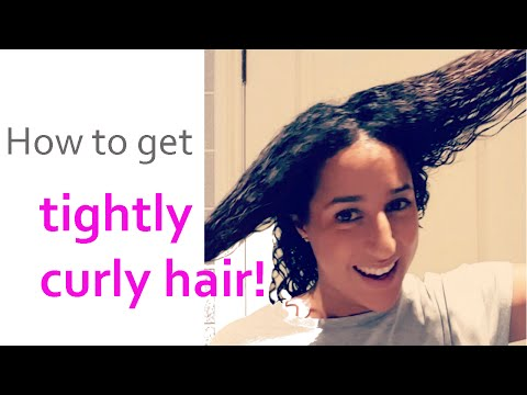 BEST EVER CURLY HAIR METHOD FOR SUPER TIGHT CURLS!!!