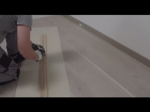 How to install skirtings with your parquet flooring | Tutorial by Pergo