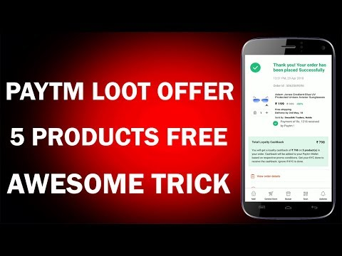 Paytm Loot Offer !! Get 5 Products free from Paytm !! Apply All promocodes in One Account !!