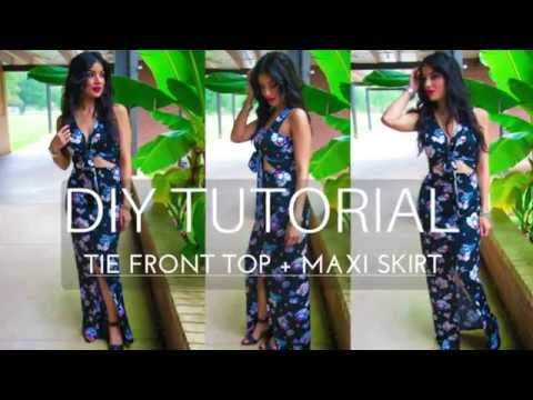 DIY Wrap Crop Top + Front Slit Maxi - ROSY | PEÑA