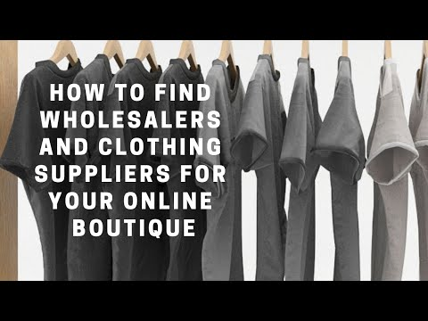 HOW TO FIND WHOLESALE VENDORS/CLOTHING SUPPLIERS FOR ONLINE BOUTIQUES