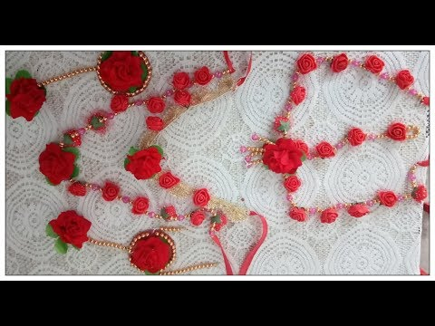 Floral Wedding jewellery DIY|| How to make flower jewellery for wedding.