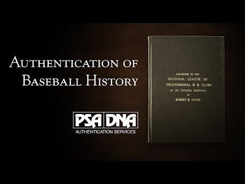 PSA/DNA Authenticates Historic MLB Founding Documents