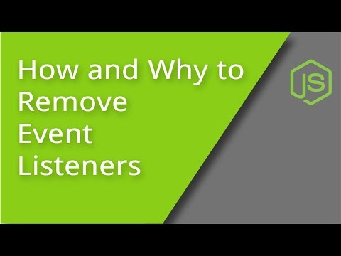 Removing Event Listeners