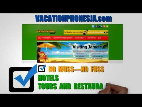 Rent a Cell Phone in Montego Bay, Negril or Ocho Rios Jamaica