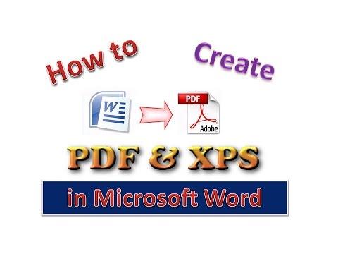 How to Create PDF & XPS in Microsoft Word [Urdu /Hindi]