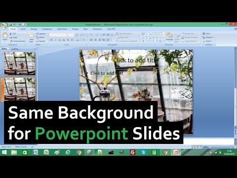 Powerpoint Tutorial: Add Same Background Image to All Slides