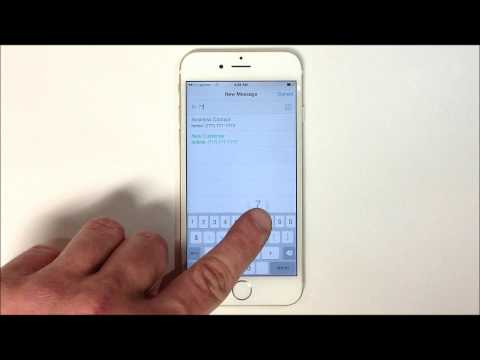 How to Send a Text Message - iPhone 6