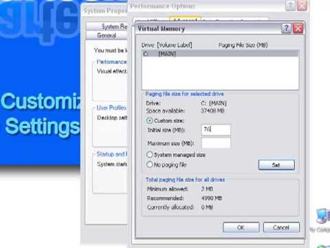 How-To Set and Customize Virtual Memory in Windows XP