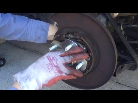 How To Replace Rear Wheel Bearings Hub, Brakes And Rotor On 2003 Nissan Altima - Timelapse.