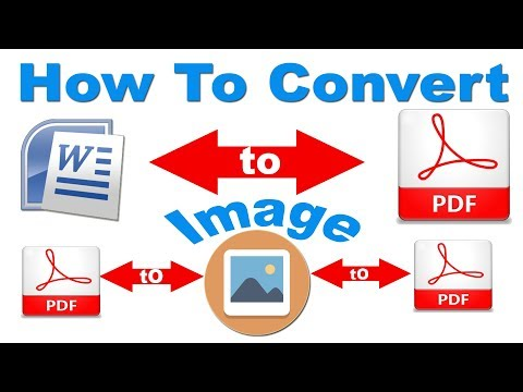 How to Convert Word into PDF into Images into PDF Online FREE (ऐसे करें pdf फाइल में / को कन्वर्ट )