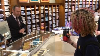 LIL PUMP BUYING $1000 SHOES AT THE MALL