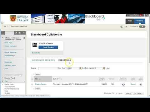 Blackboard Collaborate recordings & converting to MP4