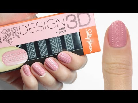 How To Use Sally Hansen's Design 3D Nail Stickers!