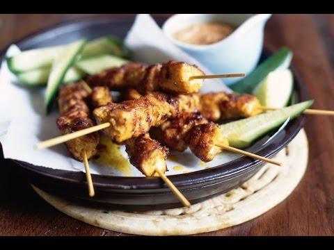 How To Make Satay Sticks ?   Master Chef Tarla Dalal