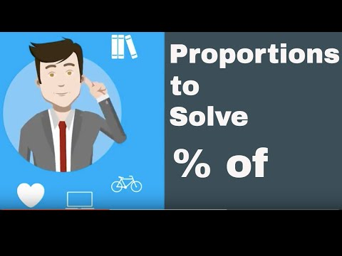 Percentage Math ( Proportions to solve percent of)