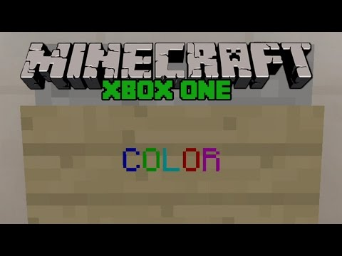 Minecraft Xbox One: SECRET COLORED TEXT ON SIGNS! Easy Tutorial