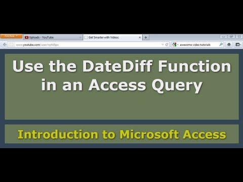 Use the DateDiff Function in an Access Query