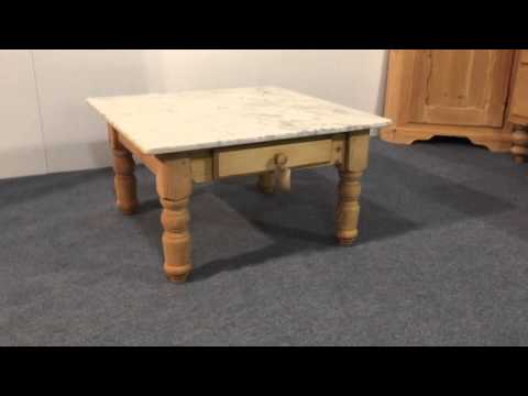 Marble Coffee Table for sale - Pinefinders Old Pine Furniture Warehouse