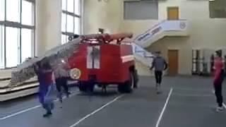 تدريبات رجال إطفاء