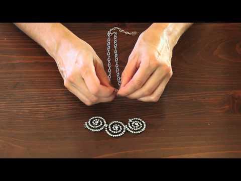 Vintage Groove II Swirl Necklace