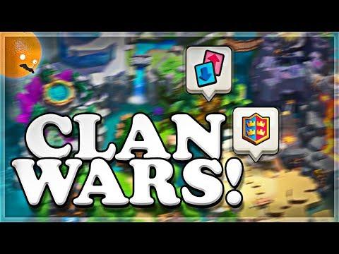 Outdoor Clan Wars | Prep Day Pt. 1 | Clash Royale 🍊