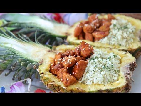 Chicken & Rice Pineapple Bowls (Honey Sriracha) + Kitchen Reveal