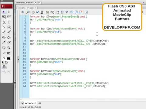 Animated MovieClip Buttons in Flash CS3 ActionScript 3