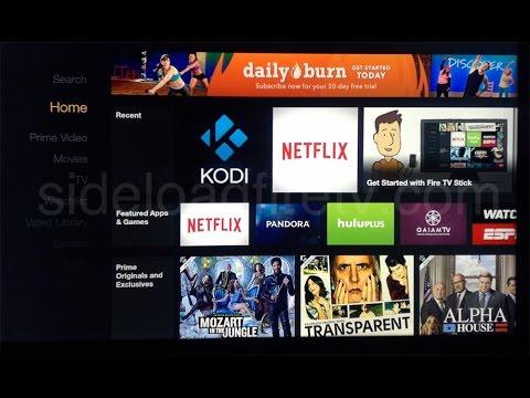 Add Kodi (XBMC) Shortcut Icon to Amazon Fire TV Main Menu without Root