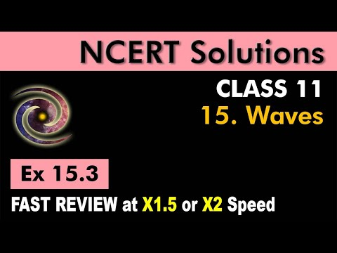 Class 11 Physics NCERT Solutions | Ex 15.3 Chapter 15 | Waves
