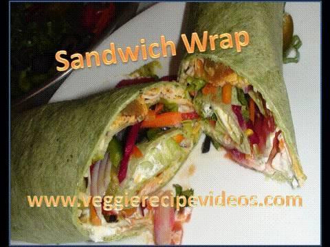 Vegetable Sandwich Wrap - No bread sandwich